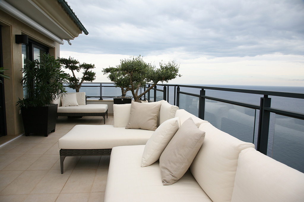 Genial Holiday Apartment With Sea View And Barbecue Terrace. Modern Scandinavian  Components Mixed With Italian Design. Light And Used Look Fabrics In Light  Blue ...